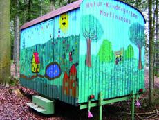 Bauwagen des Naturkindergarten Martinsmoos