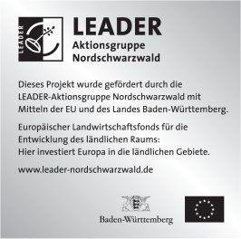 Schild der LEADER Aktionsgruppe Nordschwarzwald